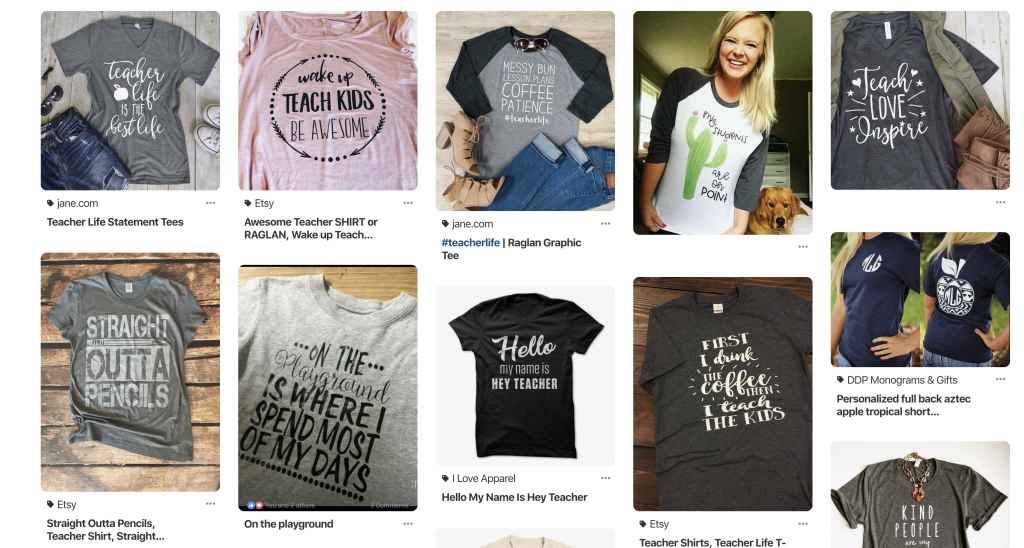 Pinterest Research For T-Shirts